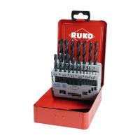 Набор сверл по металлу HSS-R RUKO 1-10 мм 19 шт (205212)