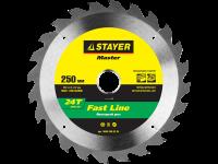 Диск пильный по дереву MASTER «FAST-Line» (190х20 мм, 24Т) для циркулярных пил Stayer 3680-190-20-24