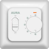 Механический Регулятор температуры теплого пола AURA LTC 230  (Белый/Кремовый)