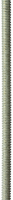 Шпилька резьбовая DIN 975, М12x2000, 1 шт, класс прочности 4.8, оцинкованная, ЗУБР