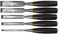 Набор стамесок MASTER с пластмассовой ручкой (6, 12, 16, 20, 25 мм, 5 шт). STAYER 1820-H5