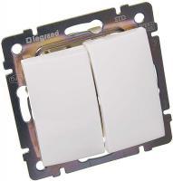 Двухклавишный выключатель, белый Legrand Valena 774405
