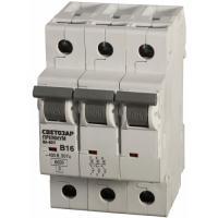 Автоматический выключатель СВЕТОЗАР 3п, 20A, 'B', 6кА, 400В SV-49053-20-B