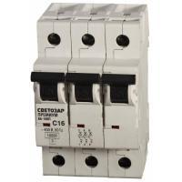 Автоматический выключатель СВЕТОЗАР 'Премиум' 3п, 63A, 'B', 6кА, 400В SV-49013-63-B