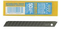 Лезвия сегментированные из нержавеющей стали (9х80х0,38 мм, 13 сегм., 50 шт.) OLFA OL-AB-50S
