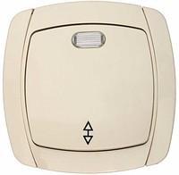 Выключатель проходной одноклавишный с индикатором СВЕТОЗАР CITY LIGHT SV-54238-B