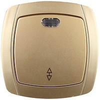 Проходной выключатель одноклавишный с индикатором СВЕТОЗАР АКЦЕНТ SV-54238-GM