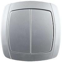 Двухклавишный выключатель СВЕТОЗАР АКЦЕНТ SV-54234-SM