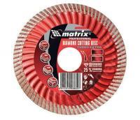 Диск алмазный отрезной Turbo Extra (125х22.2 мм) для угловых шлифмашин Matrix 73194