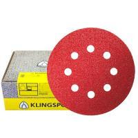 Круг шлифовальный на липучке для обработки красок, лаков и шпаклевок (125 мм; Р80; 8 отверстий) KLINGSPOR 270392