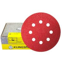 Круг шлифовальный на липучке для обработки красок, лаков и шпаклевок (125 мм; Р36; 8 отверстий) KLINGSPOR 270247